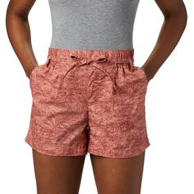 Columbia Summer Chill Pantalones Cortos Mujer, rojo